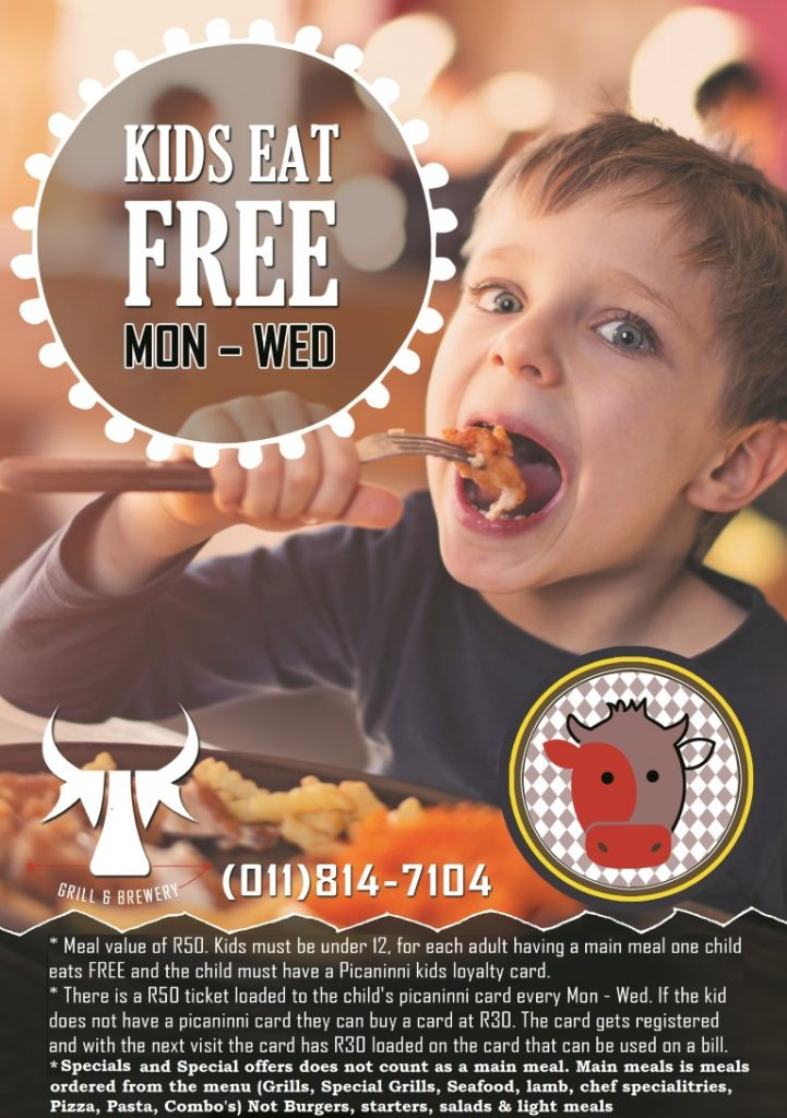 kids eat free flier